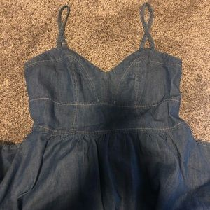 Denim dress size S a line